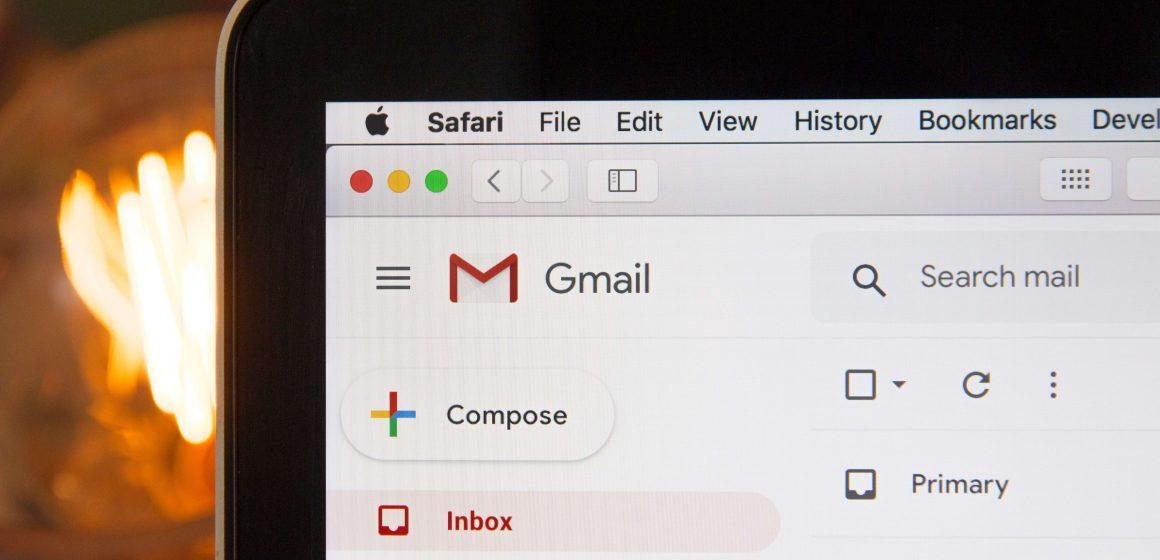 Ekran z otwartą pocztą Gmail